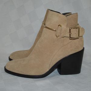 $1255 Sz 37.5 7 Balenciaga Camel Chunky Heel Boots